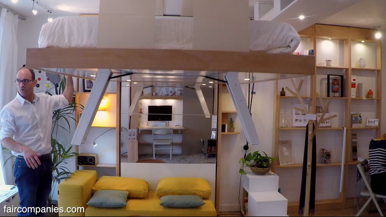 Adaptive-space-saving-bed-snaps-into-ceiling-when-not-needed