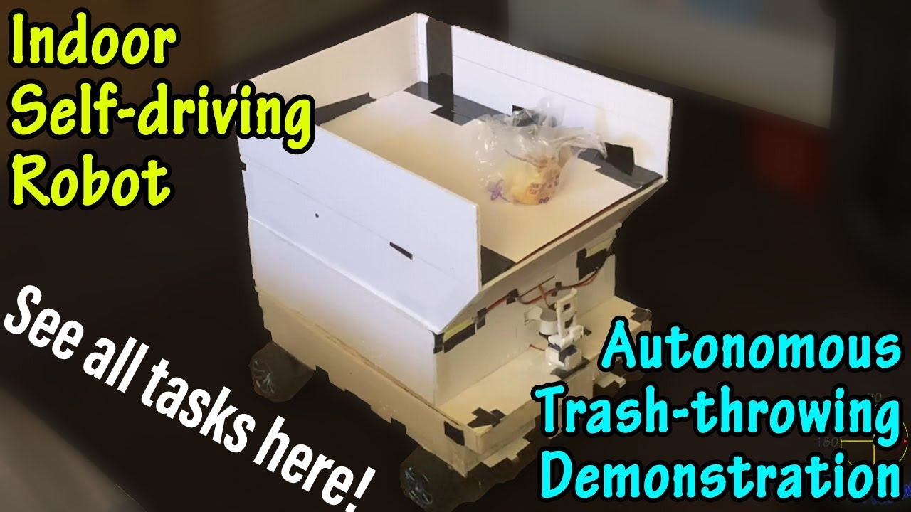 Autonomous-Trash-throwing-Demonstration-Indoor-Self-driving-Robot
