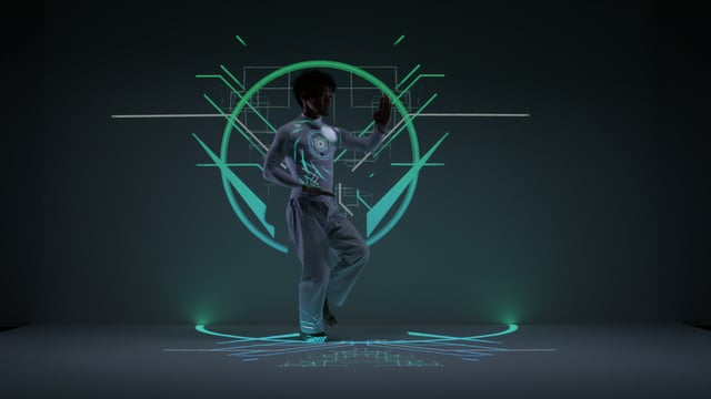 EXISDANCE-Real-time-tracking-Projection-mapping