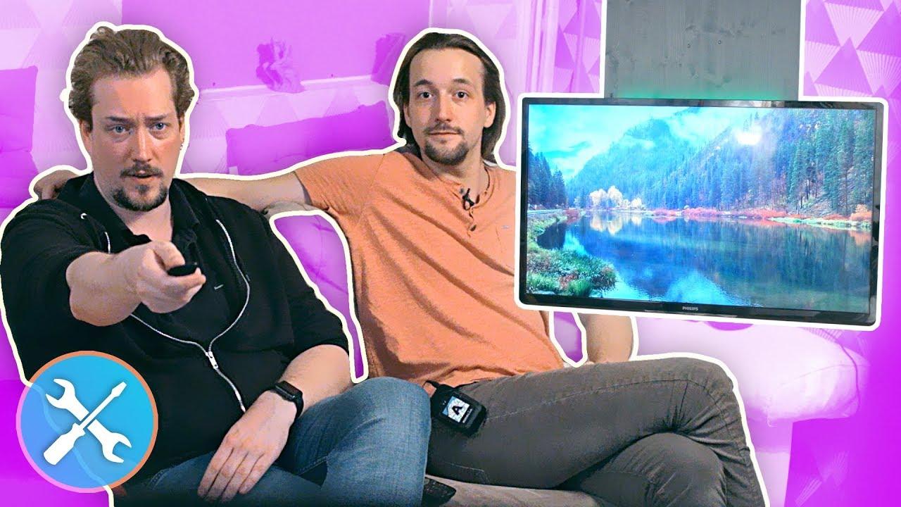 On-fait-DISPARAITRE-notre-TV-DIY-Support-TV-Plafond